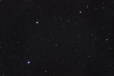 Cor Caroli and Chara with Messier 94 in Canes Venatici