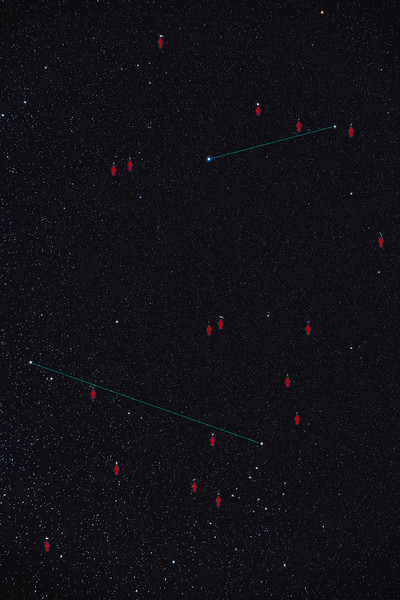 Realm of the Galaxies in Coma Berenices & Canes Venatici (with Arrows)