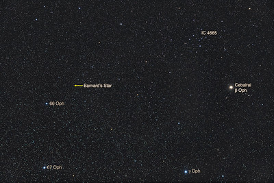 Barnard's Star in Ophiuchus
