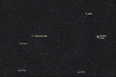 Barnard's Star in Ophiuchus
