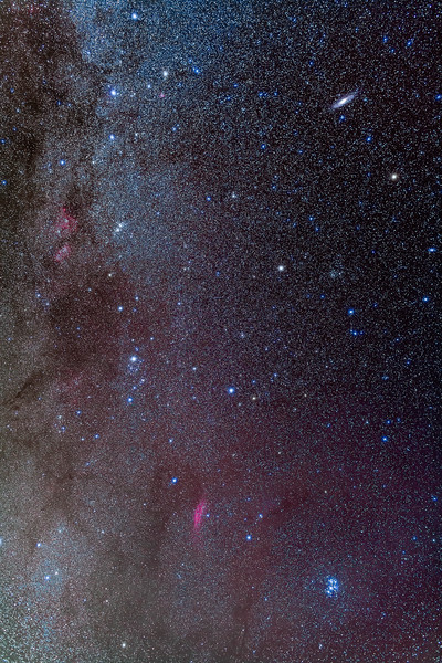 The Milky Way, from Andromeda to the Pleiades