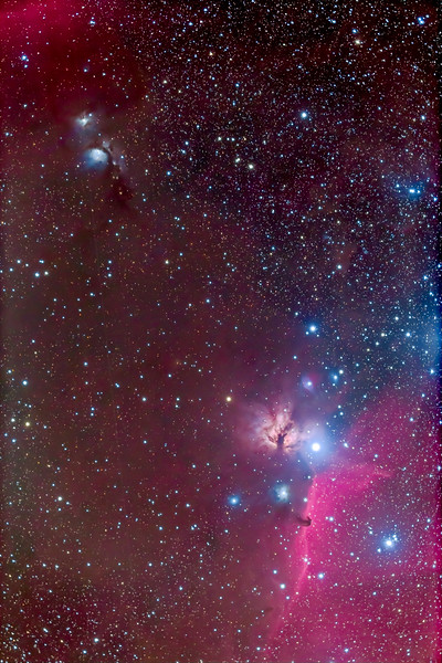 B33 Horsehead and M78 Nebulas in Orion (92mm 6D)
