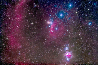 The Belt and Sword of Orion with Barnard's Loop