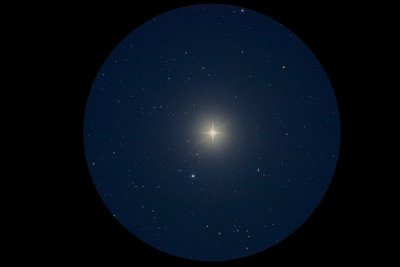 Arcturus in Twilight - Eyepiece View