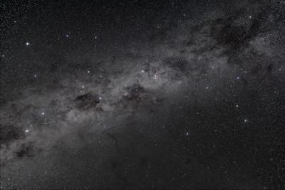 Southern Sky Splendours-B&W Naked Eye View