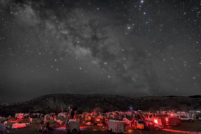 Centre of the Galaxy over Texas Star Party - B&W Naked Eye View