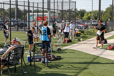 July 13, 2020, Orlando, FL, USA; Deep South Lacrosse host their free goalie clinic at XL Soccer World. Mandatory credit: Mike Watters