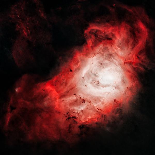 "Lagoon Nebula on a ""starless night"""