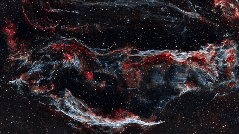Veil Nebula, including the Witch's Broom