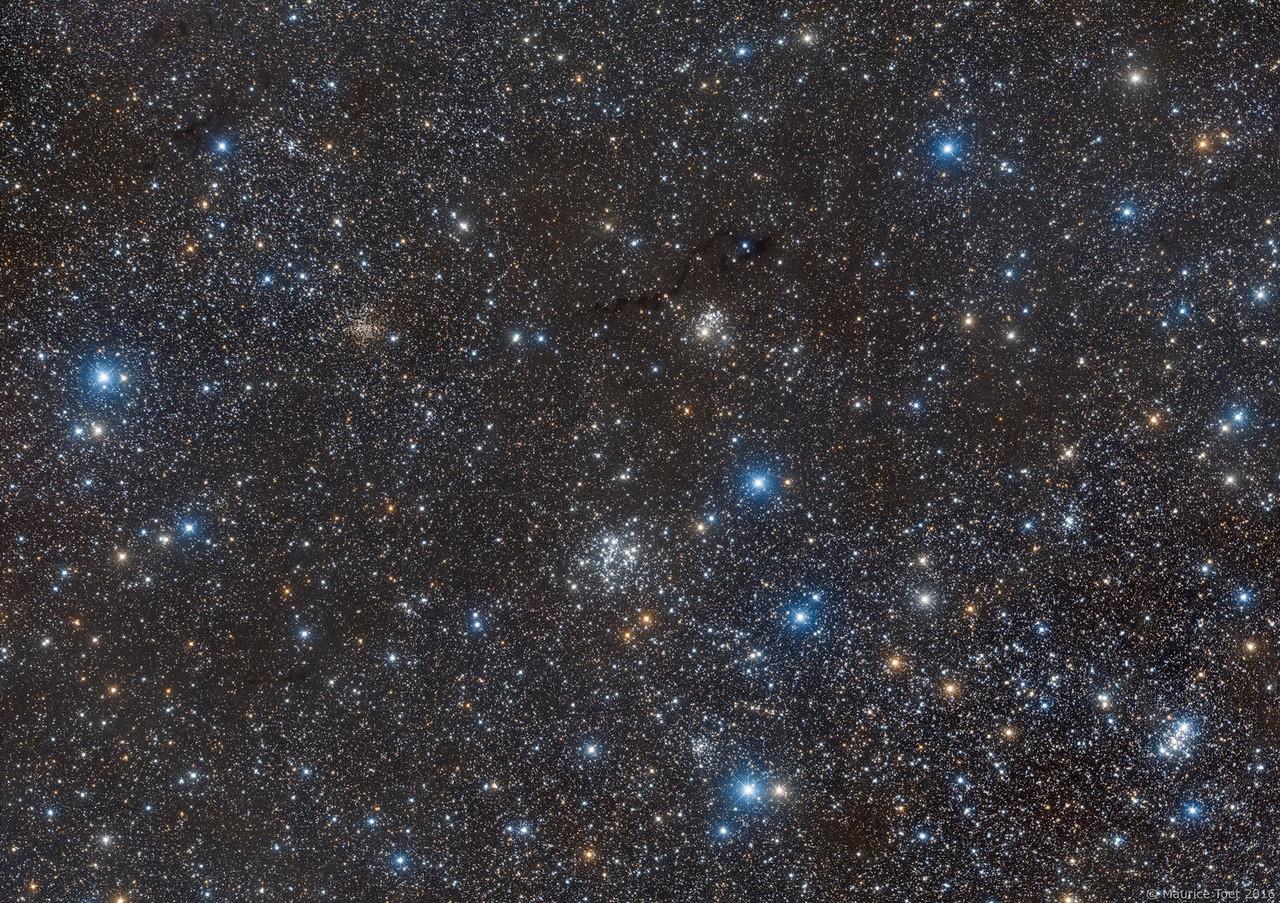 IC 166, Lynds Dark Nebula 1332, 1334, 1337 - 1339 & 1341 - 1348, NGC 654, Van den Bergh 6, NGC 663, NGC 659 and M103