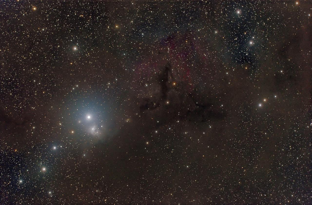 IC 348 and Barnard´s Dark Nebulas B1, B3, B4 and B5