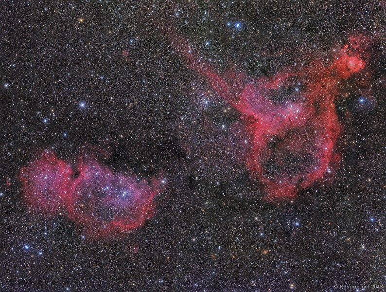 IC 1805 & IC 1848, Heart and Soul Nebula