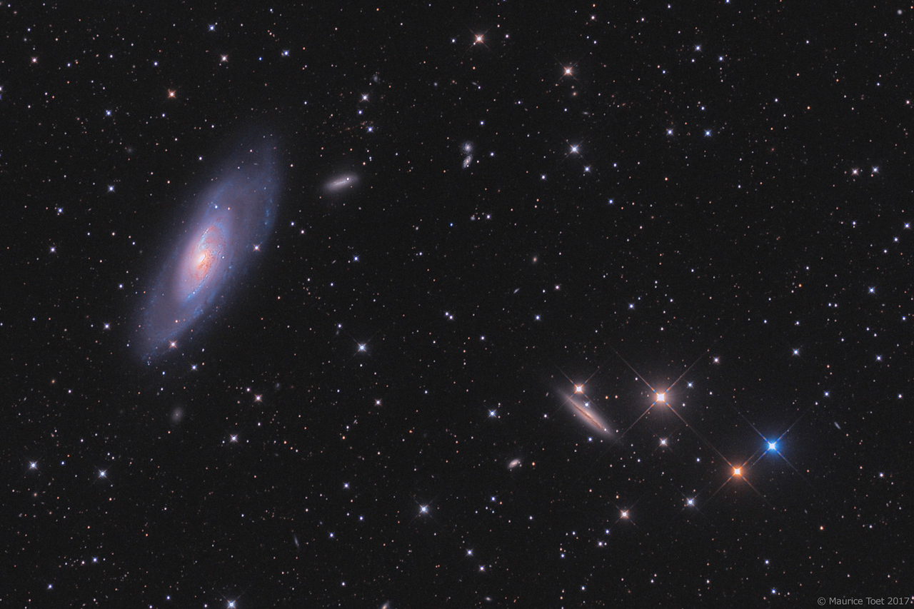 M106, NGC 4217 and surroundings (crop)