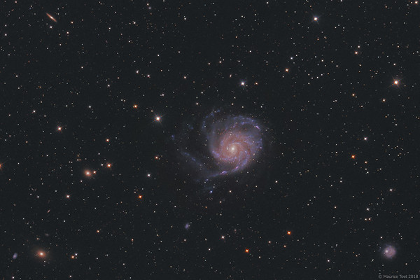 M101, Pinwheel Galaxy (cropped view)