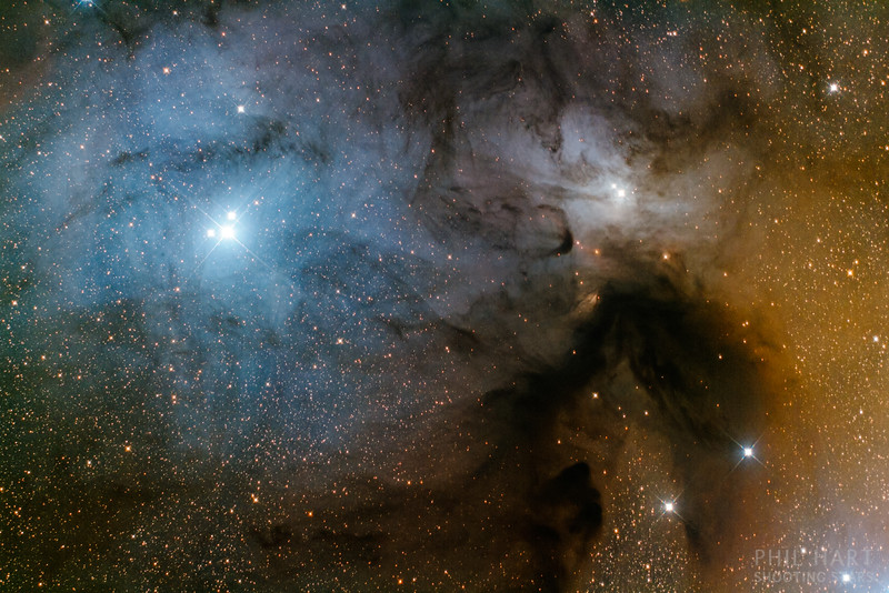 Rho Ophiuchi with the Astronomical Society of Victoria's Astrophotography Observatory. Image data captured with Ross Hortin and Mark Justice.