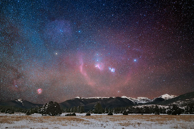 Orion over the Sangre de Cristos