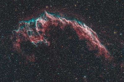 NGC6992 | The Eastern Veil nebula (H-alpha / OIII / RGB)