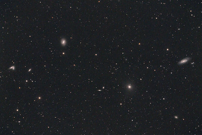 NGC4567/NGC4568 and M58, M89, M90 | Siamese Twins and Messier galaxys in Virgo