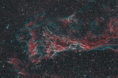 Pickering's Triangle nebula (H-alpha / OIII / RGB)