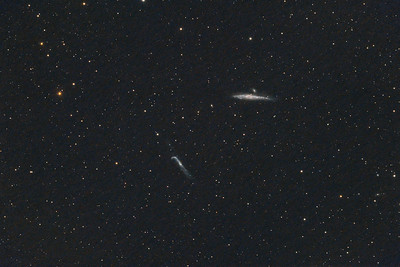 NGC4656 and NGC4631 | Hockey Stick and Whale galaxy.