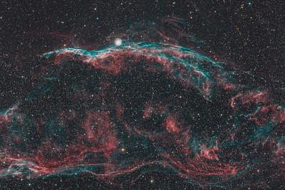 NGC6960 | The Western Veil nebula (H-alpha / OIII / RGB)