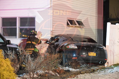 Deer Park F.D. MVA w/ Car Into House W.23rd St. 3/9/18