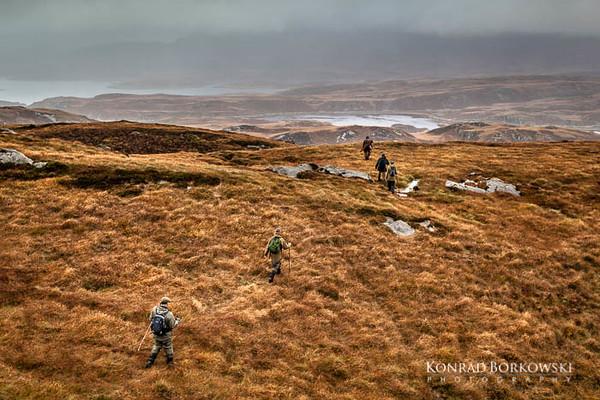 Deer Stalking on Isle of Jura, Scotland.