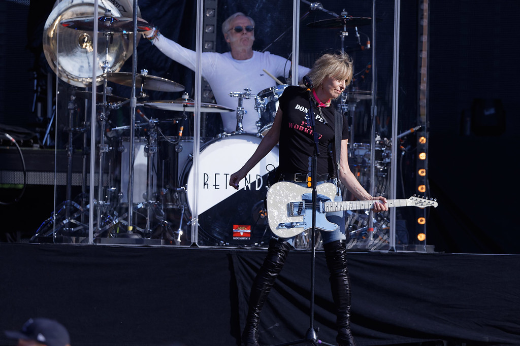 . The Pretenders live at Comerica Park in Detroit  on 7-13-2018.  Photo credit: Ken Settle
