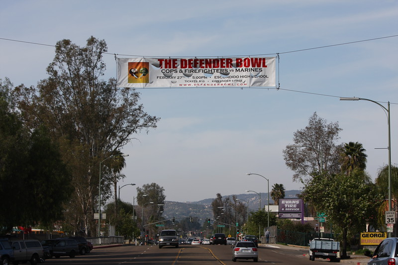Banner over Broadway in Escondido.
