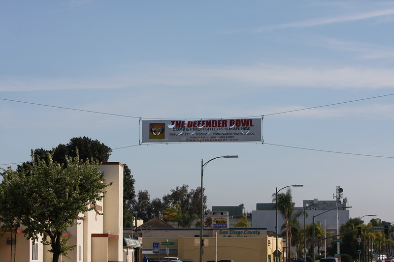 Banner over Broadway in Escondido