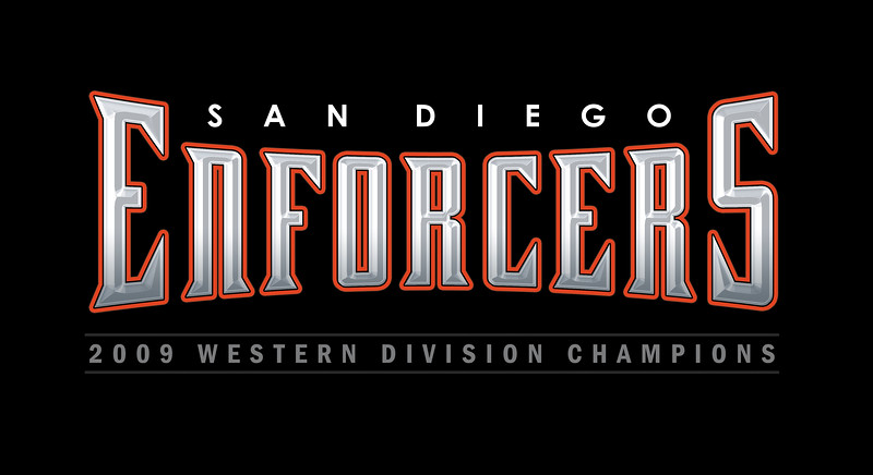 """The San Diego Enforcers claim title as:<br />      """"2010 Defender Bowl Champions!"""""""