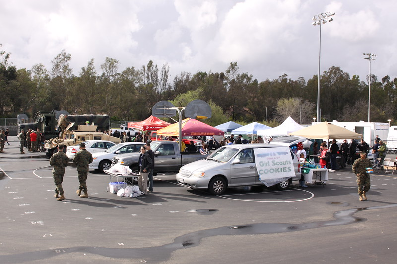 The pre-game tail gate party had numerous vendors along with static displays from The Maries and the Escondido Police Department.