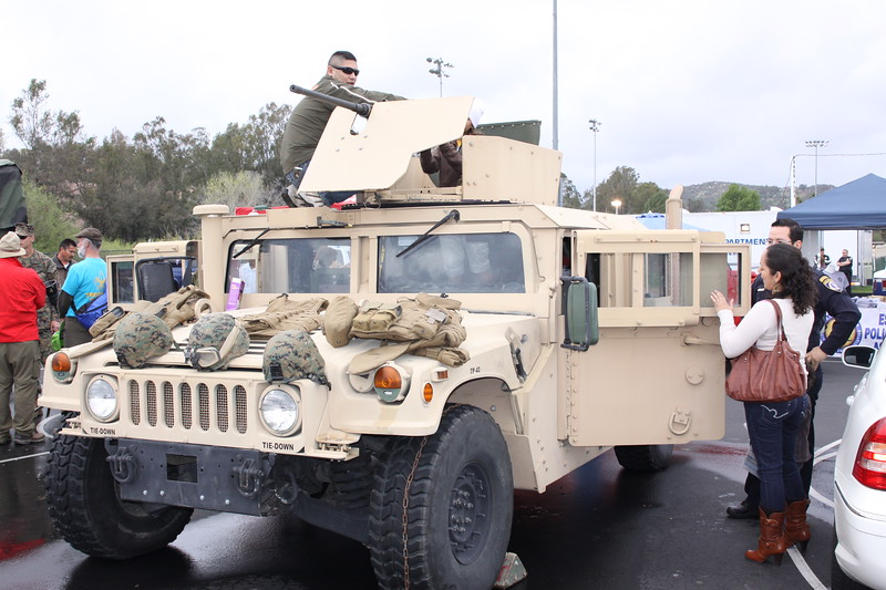 The United States Marines brought out many static displays.