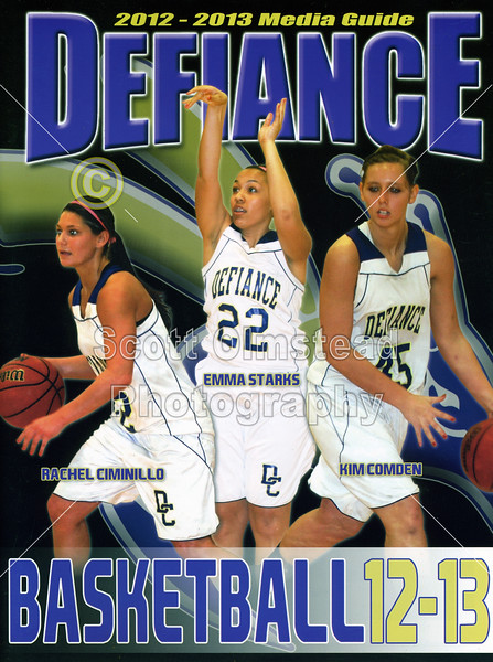 Official Game Program and Media Guide - Saturday, December 15, 2012 - Franklin College Griz at Defiance College Yellow Jackets - Women's Basketball