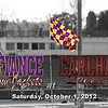 Saturday, October 29, 2012 - Defiance College Yellow Jackets at Earlham College Quakers