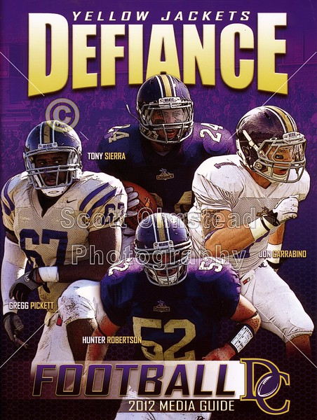Official Game Program - Saturday, October 27, 2012 - Franklin College Griz at Defiance College Yellow Jackets - Senior Day