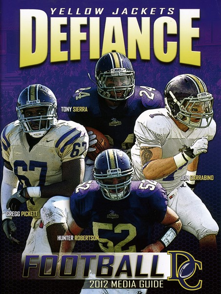 Official Game Program - Saturday, September 15, 2012 - Rose-Hulman Fightin' Engineers at Defiance College Yellow Jackets