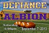 Saturday, September 7, 2013 - Defiance College Yellow Jackets at Albion College Britons