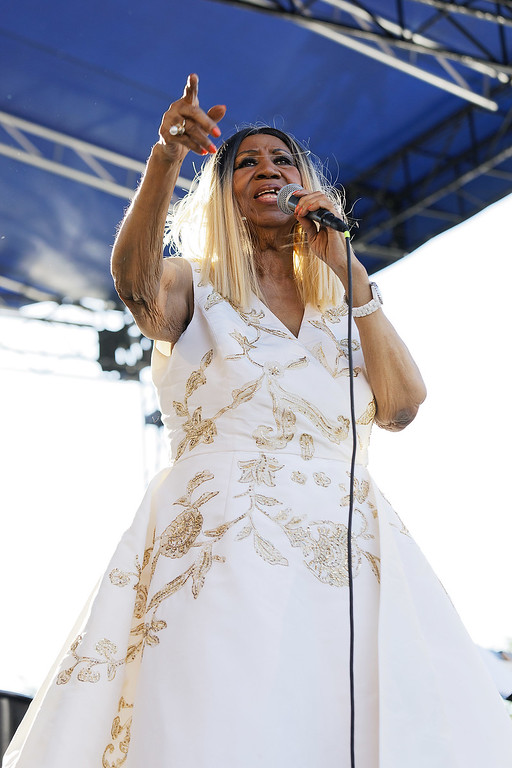 . Aretha Franklin live at Detroit Music Weekend on 6-10-17.  Photo credit: Ken Settle