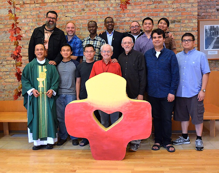Fr. Hendrik, poses with the formation community