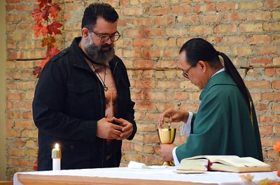 Frater Juancho and Fr. Hendrik