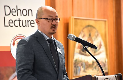 Dr. Brian Lee was moderator of the Dehon Lecture