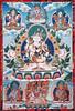 Khandro Thug Thig - Guru Rinpoche (Padmasambhava) with consort Mandarava in Sambogakaya form - KPC thanka