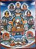 Guru Rinpoche (Padmasambhava) with consorts and manifestations.