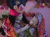 Radha Kunjabihari Nilamani Giridhari Gaura Nitai Jagannatha Deities of Brinda dd and Venkatnath dasa Dombivili