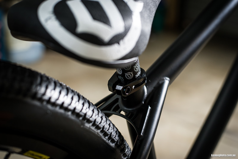 The Cryptkeeper Frame has all the nice touches like this seat stay gusset.