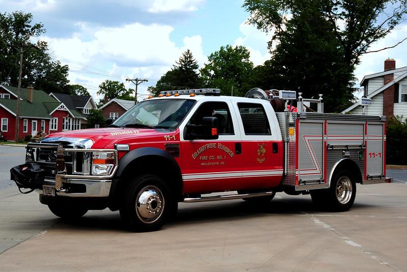 BrandywineHundred Fire Co  Brush 11-1   2009 Ford F-550  Rosenbauer  200/ 200 10 Class A Foam