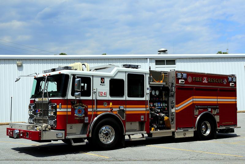 Christiana Fire Dept  Engine  12-4  2009 Seagrave Marauder II  1500/ 750