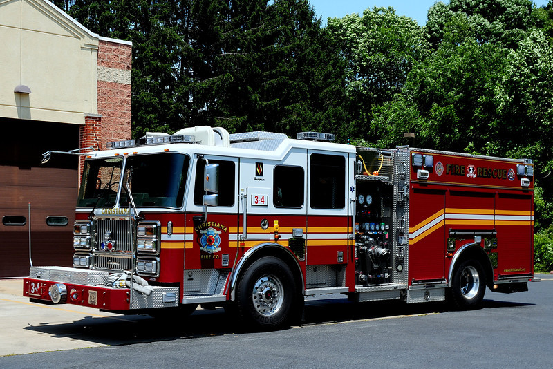 Christiana Fire Dept    Engine  3-4  2009  Seagrave  Marauder II  Rescue Engine   1500/ 750
