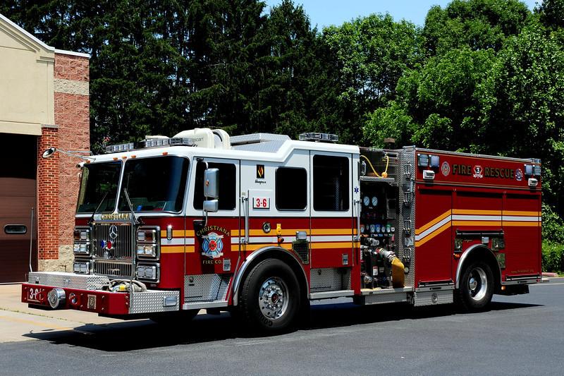 Christiana Fire Dept  Engine  3-6  2009 Seagrave Marauder  II   Rescue  Engine   1500/ 750